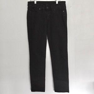 BCBG MaxAzria Black Slim Straight Jeans 28